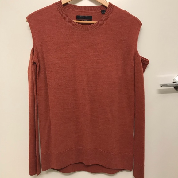 All Saints Sweaters - All Saints Merino Wool Cold Shoulder Sweater